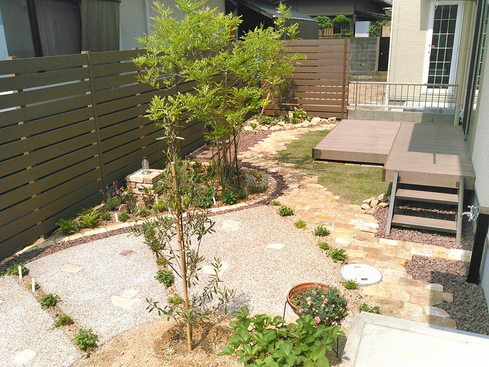 使い道に困ってたお庭、雑草に悩まされるシーズン前に綺麗にリフォームしたプライベートガーデン