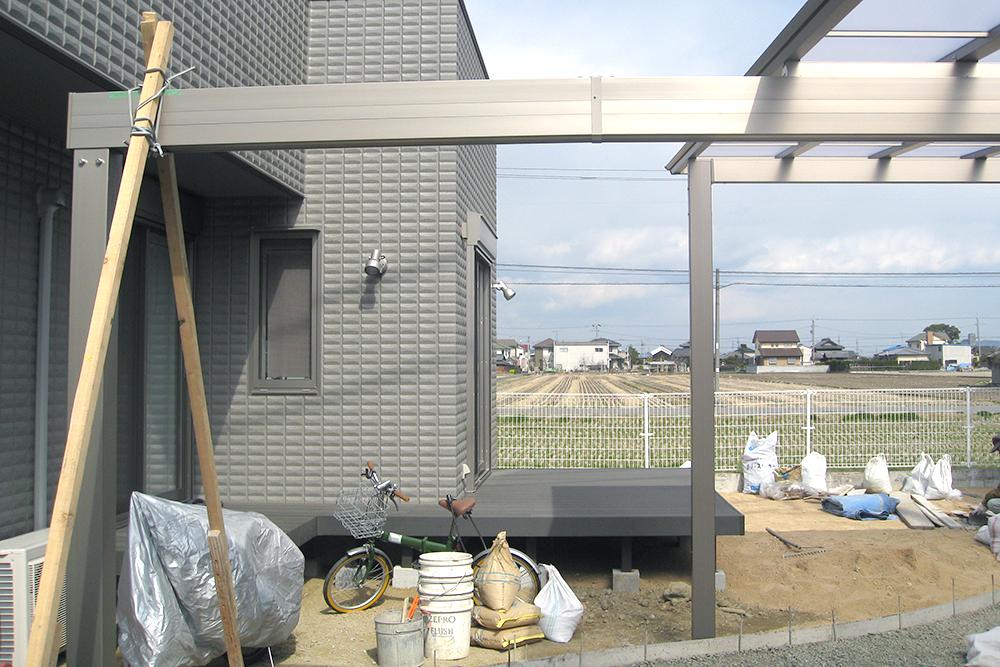 外構エクステリアと一緒にお庭をトータルコーディネイト