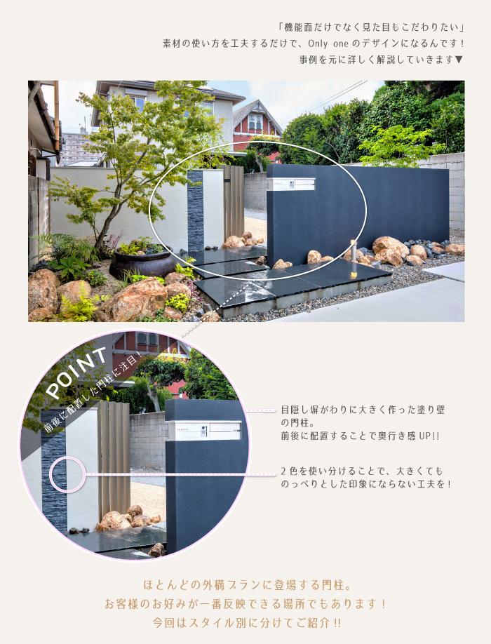 塗り壁門柱のポイント|ベストホーム
